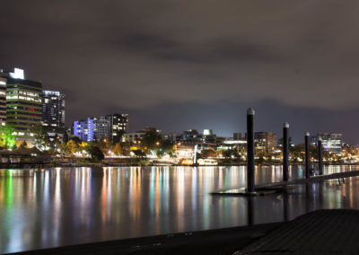 Brisbane lights on river