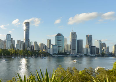 brisbane city by the river