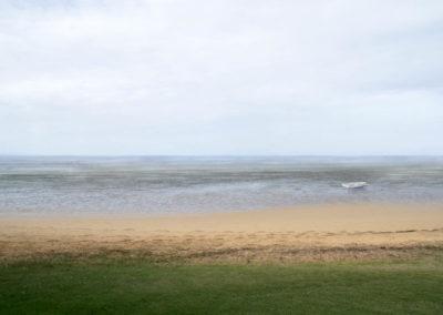 minimal boat at beach