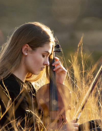 violinist bokeh